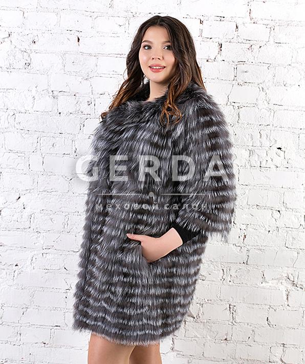 Пальто из чернобурки большие размеры