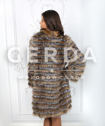 Шуба из чернобурки пальто