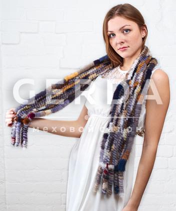 "Норковый шарф ""Хамелеон"""