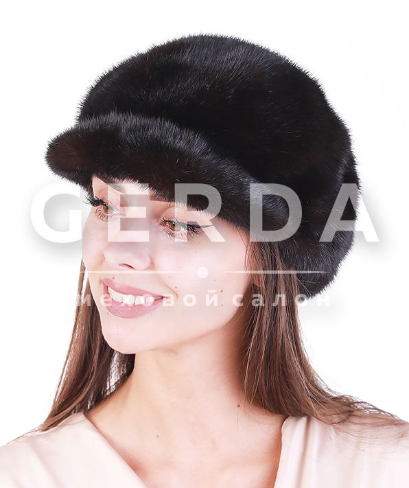 Норковая шапка кепка