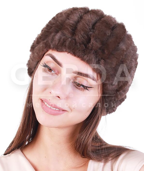 """Меховая повязка на голову """"Вита"""" соболь"""