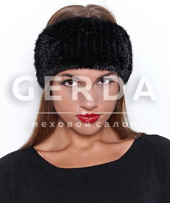 """Норковая повязка """"Лорель"""" черная"""