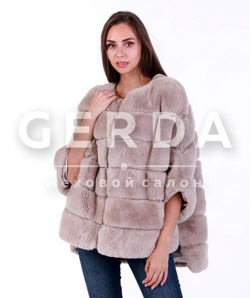 """Меховой свитер """"Марта"""" пудра"""
