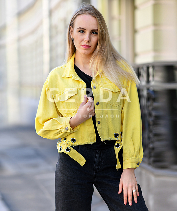 Джинсовая куртка с кольцами Пирсинг Лимон