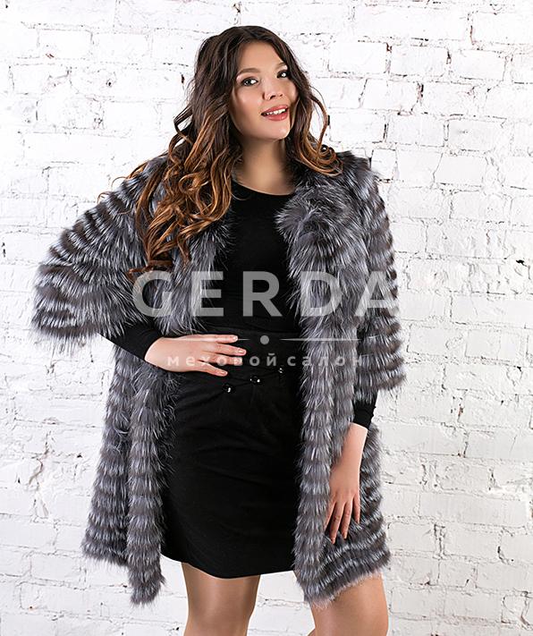 """Пальто из чернобурки большие размеры """"Николь"""""""