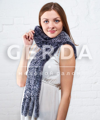 "Меховой шарф ""Лада"" шиншилла"