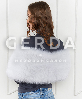 "Меховой шарф ""Кэмерон"" белый"