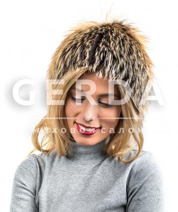 """Меховая шапка из лисы """"Олив"""""""