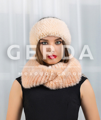Норковый шарф-хомут