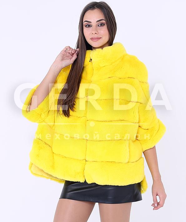 """Меховой свитер """"Марта"""" лимон"""