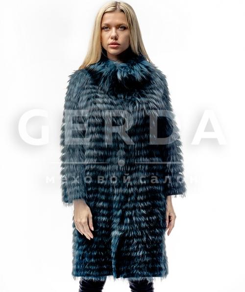 Пальто из чернобурки