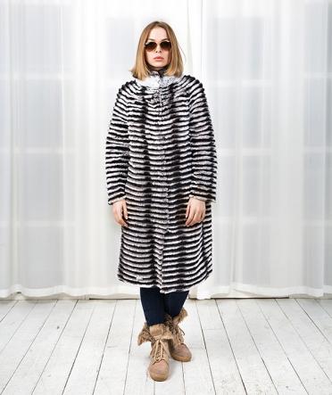 Меховое пальто из кролика