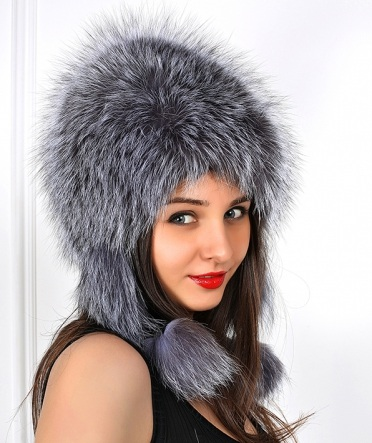 шапка сноп из чернобурки