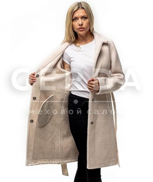 Шуба пальто тедди айвори