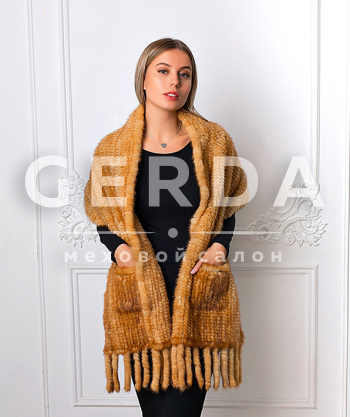 """Меховой шарф из норки """"Янтарь"""""""