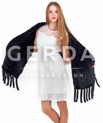 """Норковый шарф """"Лаура"""" черный"""