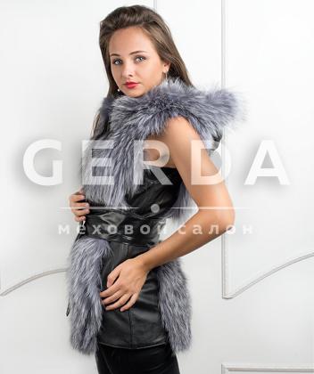"""Меховой жилет из чернобурки """"Джулия"""""""