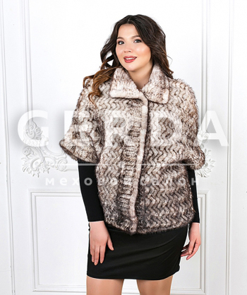 "Куртка из норки ""Агата"" сильвер"